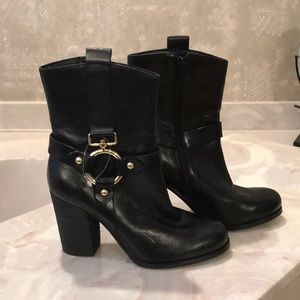 Guess Black Leather Booties